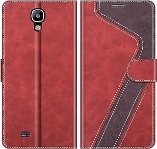 MOBESV Funda para Samsung Galaxy S4, Funda Libro Samsung S4, Funda Móvil Samsung Galaxy S4 Magnético Carcasa para Samsung Galaxy S4 Funda con Tapa, Rojo