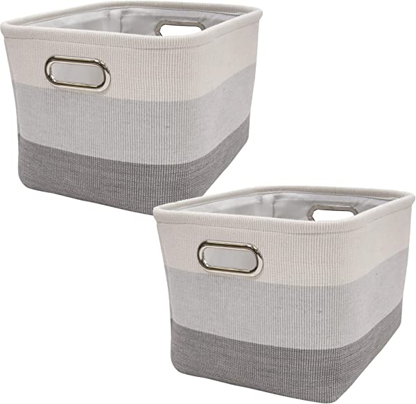Lambs Ivy Gray Ombre Storage Basket 2 Pack