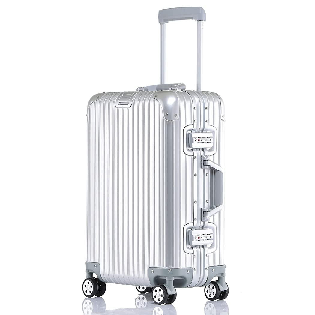 メナジェリーおばあさんすずめボンイージ(bonyage) スーツケース アルミ?マグネシウム合金ボディ キャリーバッグダブルキャスター 大容量 ドローバー 360度自由回転 旅行出張 1年保証