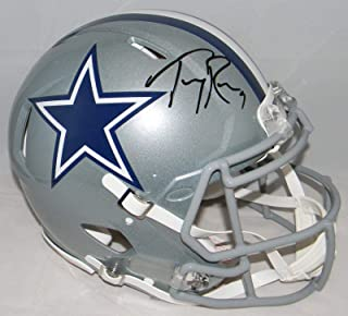 Tony Romo Signed Helmet - Full Size Authentic Speed - JSA Certified - Autographed NFL Helmets