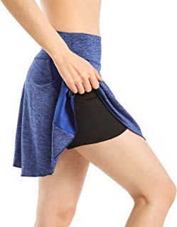 EAST HONG Women's Active Athletic Skort Lightweight Skirt with Pockets