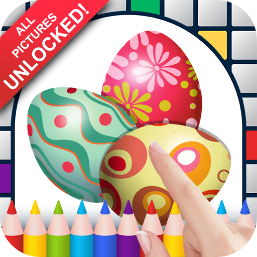 Easter Eggs Color by Number - No Ads Pixel Art Game - Coloring Book Pages - Happy, Creative & Relaxing - Paint & Crayon Palette - Zoom in & Tap to Color - Share Creations with Friends!