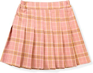 Girls' Pleated Plaid Mini Skirt, High Waist Skort for School Tennis 2T - 14 Years