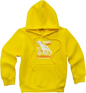 KISBINI Toddlers Boys Girls Cartoon Dinosaur Hoodies Fleece Pullover