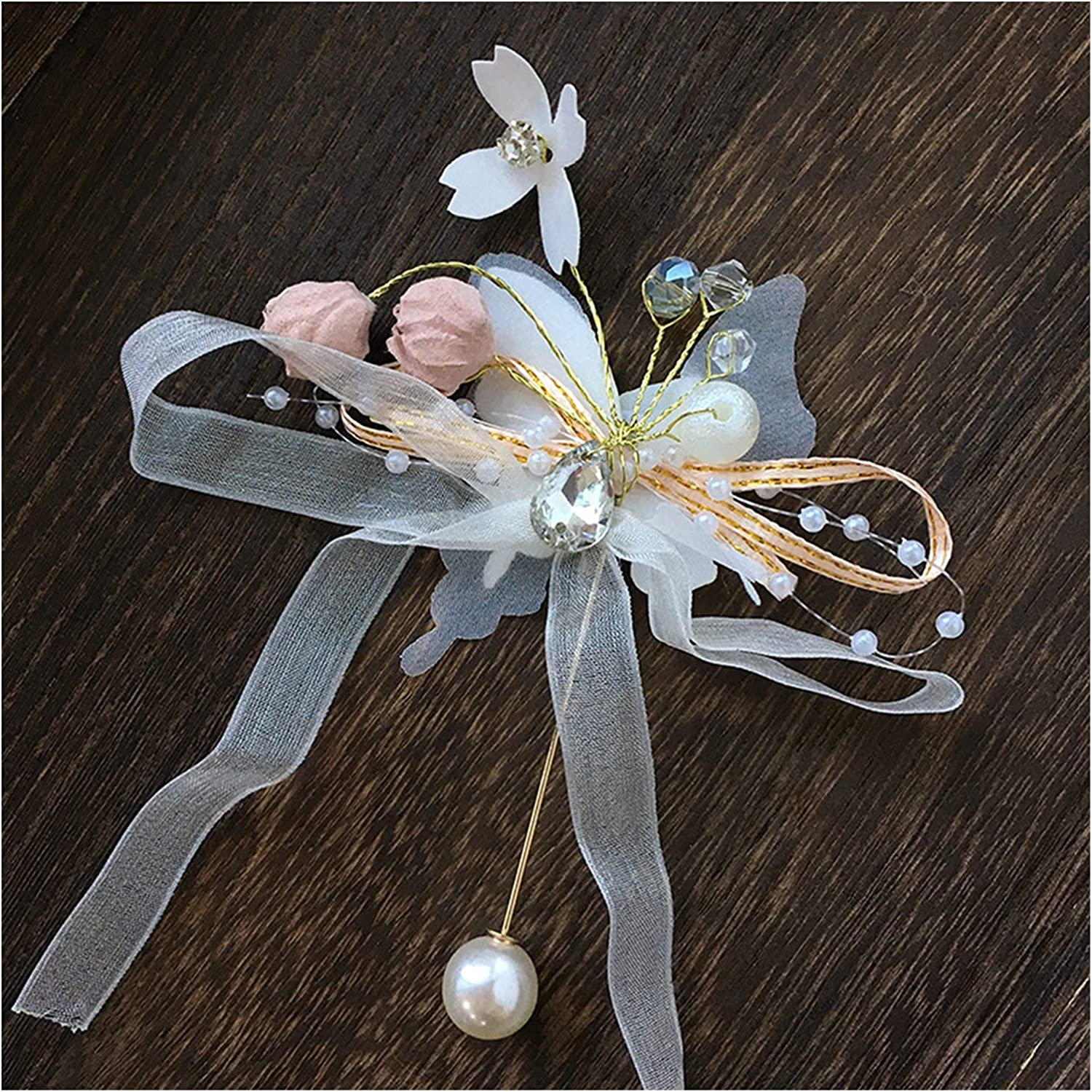 CHHNGPON Bracelet Butterfly Ranking TOP10 Be super welcome Imitation Pearls Corsage Fa