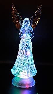 lighted crystal angel figurines