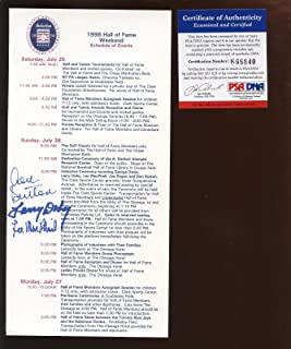1998 Baseball Hall of Fame Weekend Signed Schedule Doby Sutton MacPhail PSA DNA - MLB Autographed Miscellaneous Items