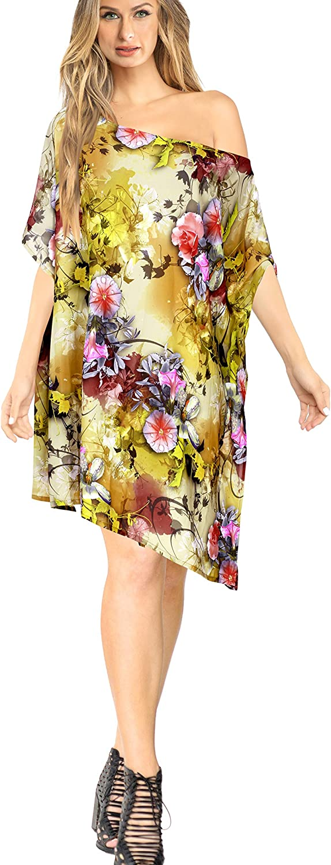 LA LEELA Bikini Coverup Dress Swim Beach Wear Caftan Swimsuit Women Embroidery