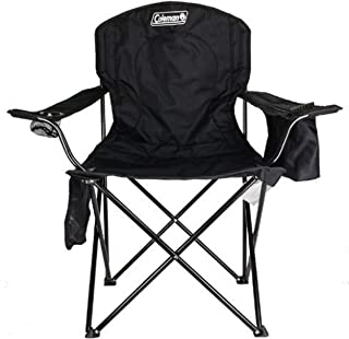Coleman Portable Camping Quad Chair with 4-Can Cooler