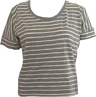 GAP Women's Striped Knit Top T-Shirt Gray Size XL