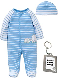 23660edd6c9 Little Me Preemie Newborn Baby Footie Sleep and Play Pajamas Footed Sleeper  Hat for Boys and