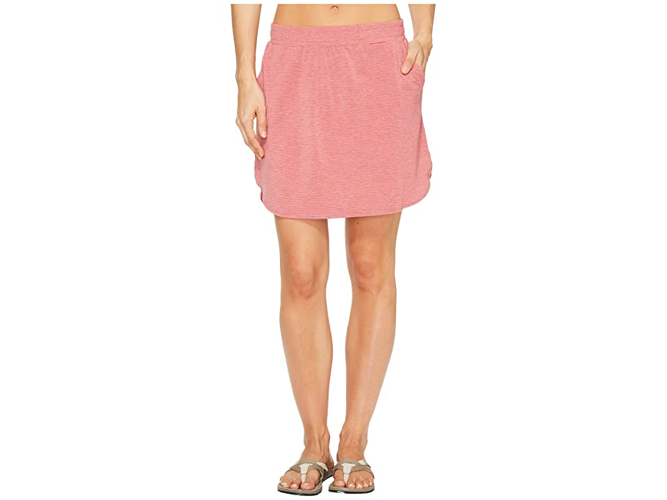 Toad&Co Swifty Trail Skirt (Parakeet Red Stripe) Women