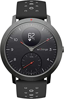Withings Steel HR Sport Smartwatch (40mm) - Activity Tracker, Heart Rate Monitor, Sleep Monitor, GPS, Water Resistant Smar...