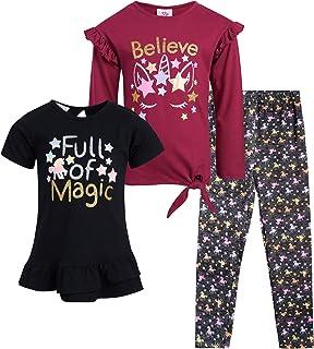 مجموعة سراويل ضيقة للفتيات الصغيرات من Real Love - مجموعة من 3 قطع أزياء للأطفال (الرضع/الأطفال/الفتيات الصغير)