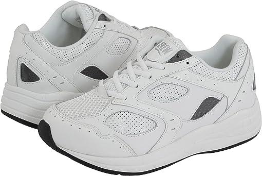 White/White Perf Leather/White Mesh