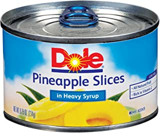 DOLE Pineapple Slices in Heavy Syrup, 8.25 Ounce Can