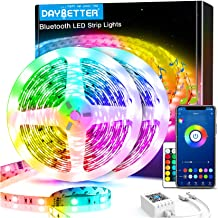 60ft Daybetter Smart Bluetooth Led Lights,5050 RGB Led Strip Lights Kits with Remote, App Control Timer Schedule Led Music Strip Lights(2 Rolls of 30ft)