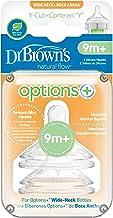 Dr Brown's OPTIONS PLUS 2019! - Tetinas para Biberon (Paquete de 2) (Corte en