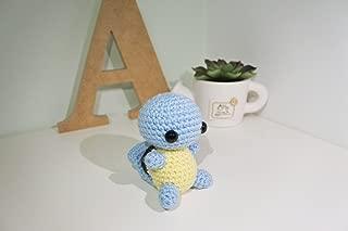 Squirtle Amigurumi/Crochet Stuffed Doll (Pokemon Inspired Amigurumi) Gift Idea, Keychain, Planner Accessories, Bag Charm, Soft Toy