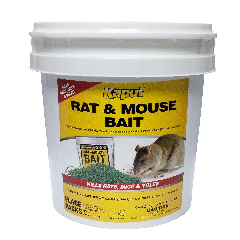 Kaput Rat Mouse mart Vole Bait Place Packs 60 61110 - price