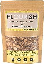My Organic Granola By Cristina Ferrare   Gluten-Free, Non GMO, Vegan, Healthy   12 oz (Golden Coconut Crunch)