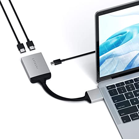 Satechi Aluminium Typ C Dualer Hdmi Adapter 4k 60hz Mit Computer Zubehör
