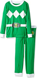 Power Ranger Boys' Toddler Mighty Morphin Pajama Set, green, 2T
