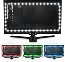 Luminoodle Color Bias Lighting, USB TV and Monitor Backlight LED Strip Lights Kit with Dimmer, Remote - 6.6 ft for 24