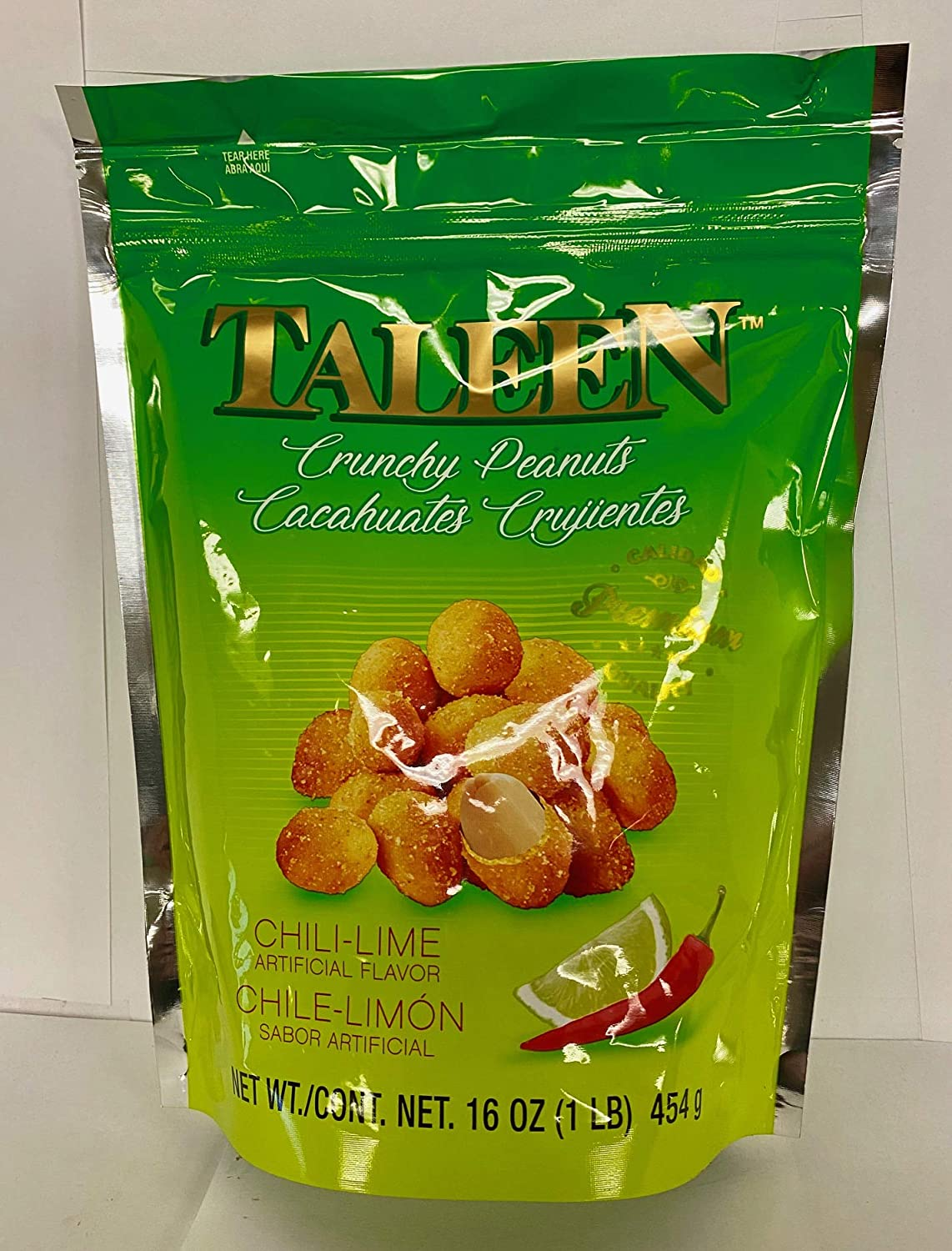 Taleen specialty shop Crunchy Peanuts Chili Lime 454g Department store 1lb Bag Flavor