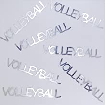 Metallic Confetti Word - VOLLEYBALL in 12 Colors (Also Available in Paper) #4390