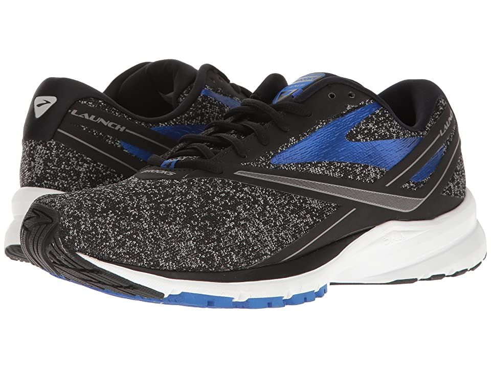 87c08a04b8b Brooks Launch 4 (Black Anthracite Electric Brooks Blue) Men s Running Shoes