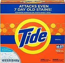 Tide Powder Laundry Detergent Original 102 Loads, 143 Ounce
