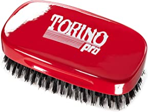 Torino Pro Hard 7 Row Palm Wave Brush By Brush King - #1900 - Hard 360 waves brush - Great for Wolfing - Great for coarse hair wavers - For 360 Waves
