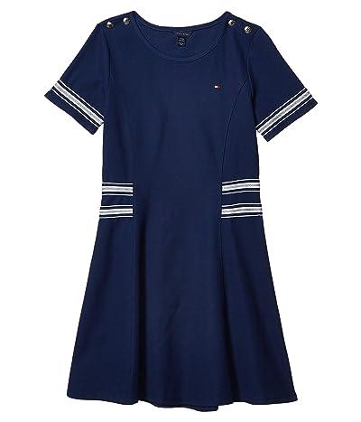 Tommy Hilfiger Kids Metallic Rib Dress (Big Kids) (Flag Blue) Girl