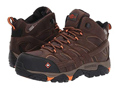 Merrell Work Moab Vertex Mid Waterproof Composite Toe (Clay) Men