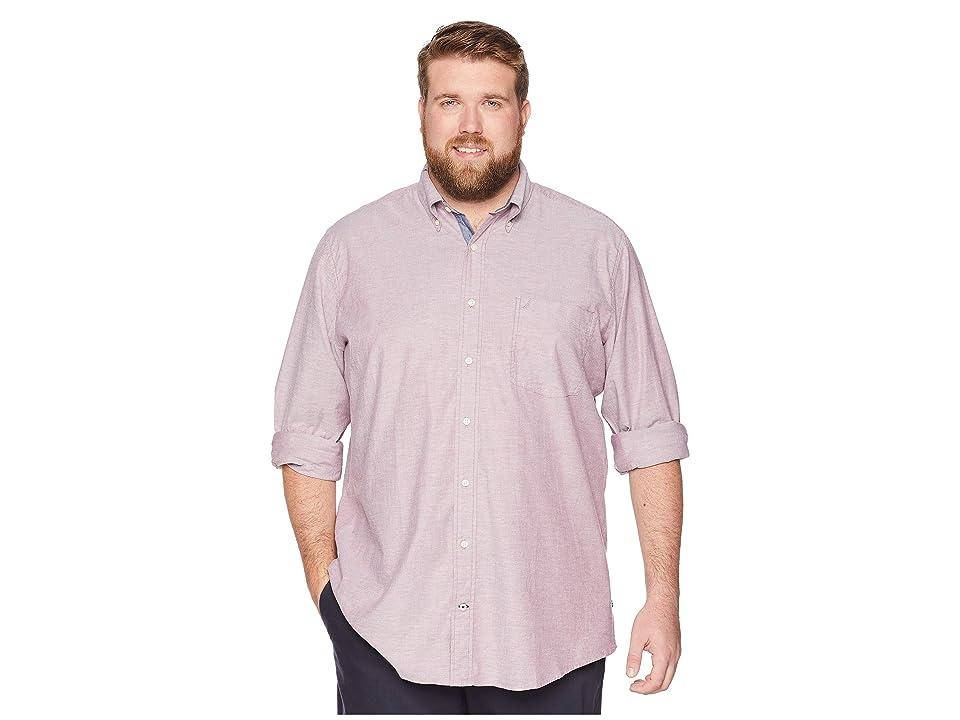 Nautica Big & Tall Big Tall Stretch Oxford Shirt (Barolo) Men