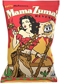 Route 11 Potato Chips : Mama Zuma's Revenge (30 bags (2 oz each)) HOT habanero jalapeno spicy chips
