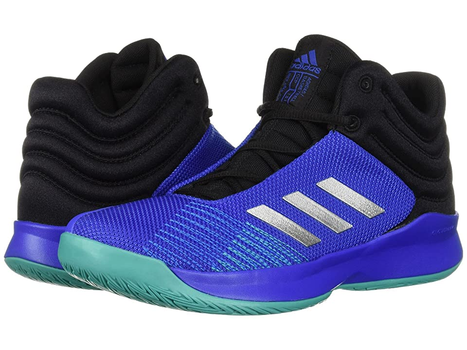 adidas Kids Pro Spark Basketball Wide (Little Kid/Big Kid) (Blue/Silver/Black) Kid