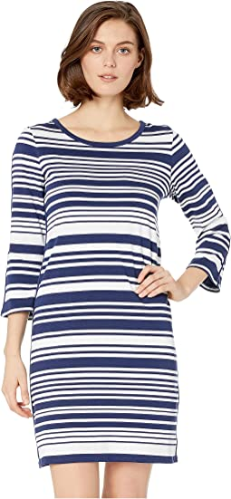 Knotty Stripe Shift Dress