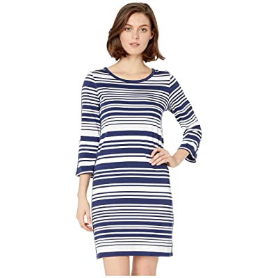Tommy Bahama Knotty Stripe Shift Dress (Island Navy) Women