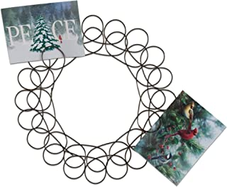 TAG Holiday Metal Spiral Wreath Greeting Card Holder, 14.5-Inches Diameter