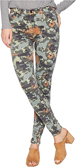 Barbara High-Rise Skinny Jeans in German Camo