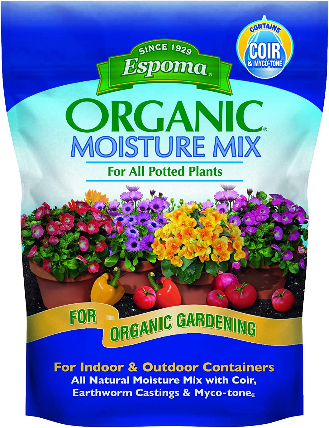 Espoma Moisture Potting Super-cheap Max 81% OFF Mix Natural Out Indoor for Organic