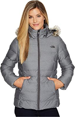 The north face womens gotham jacket graphite grey + FREE