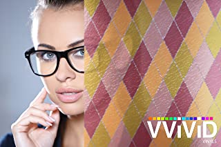 VViViD Diamond Static Cling Decorative Privacy Frosted Stained Glass Window Film for Bathroom, Kitchen, Home, Office (36 Inches x 6.5 Feet)