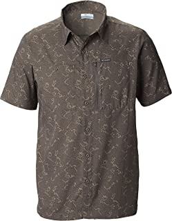 Columbia Men's Pilsner Peak II Print Short Sleeve Shirt, UV Protection, Moisture Wicking Fabric