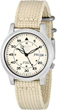 Seiko Men's SNK803 Seiko 5 Automatic Watch with Beige Canvas Strap