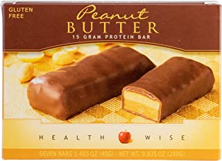 Healthwise - High Protein Diet Bar - Peanut Butter - 15g Protein- For Any Diet- Hunger Control and Appetite Suppressant - ...