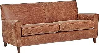 Rivet Lawson Modern Angled Leather Sofa, 78