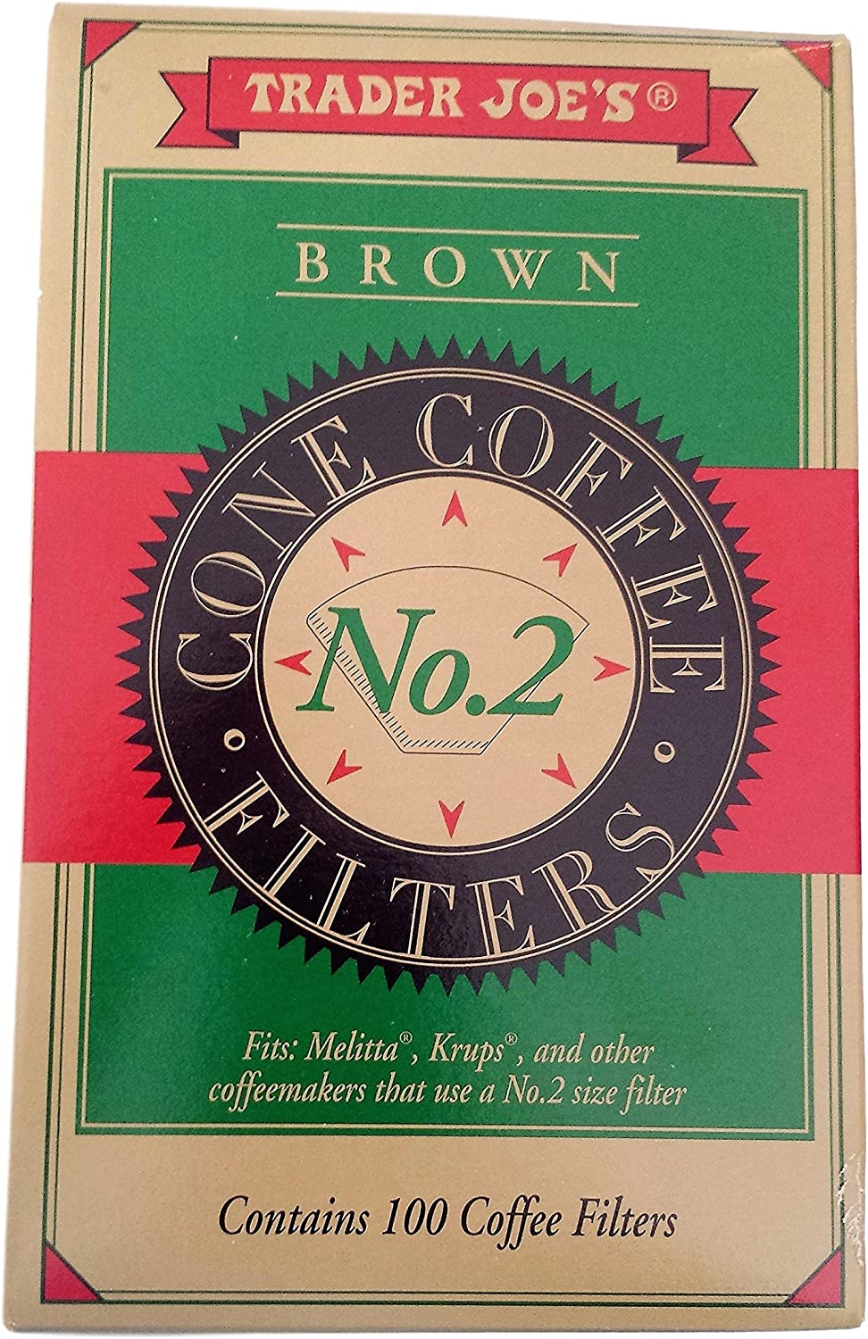 Trader Joes Brown Cone Coffee shopping 100 contains Time sale Filters No.2
